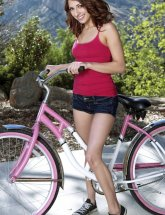 Lexi Bloom on bike